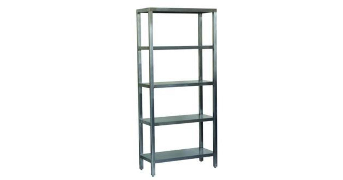 obalov materi l kovov reg l z kladn 200 x 60 x 40 cm 5 polic st brn. Black Bedroom Furniture Sets. Home Design Ideas