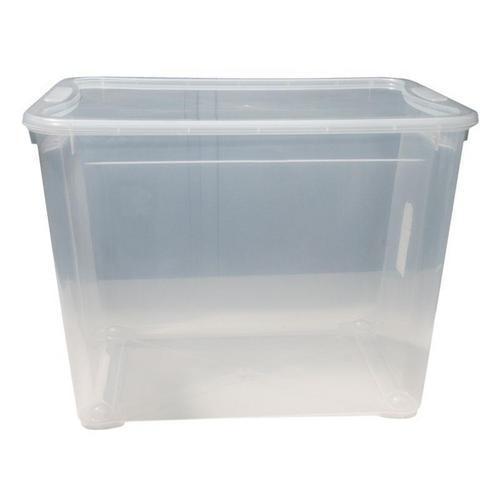 7c9037001 Ebal.cz - obalový materiál - Plastový úložný box s víkem, průhledný ...